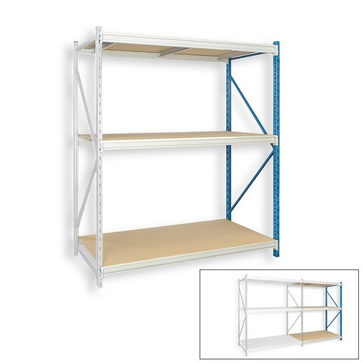 "Looking: 123""H x 48""W x 48""D Bulk Rack Particle Board Add-on Shelving 3 Levels 