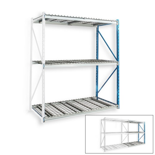 "Looking: 123""H x 48""W x 36""D Bulk Rack Wire Deck Add-on Shelving 3 Levels 
