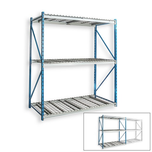 "Looking: 123""H x 72""W x 48""D Bulk Rack Wire Deck Starter Shelving 3 Levels 