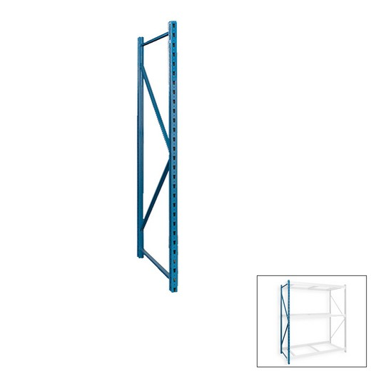 "Looking: 99""W x 24""D Bulk Rack Frame Blue 