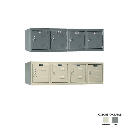 "Looking: 15""H x 48""W x 18""D 4-Wide Wall Mount Steel Locker Unassembled 
