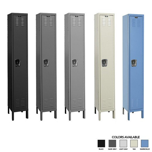 "Looking: 78""H x 12""W x 18""D Single Column Single Tier Steel Locker Unassembled 