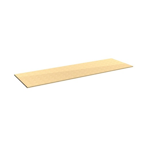 "Looking: 60""W x 18""D Rivet Shelving Particle Board deck 