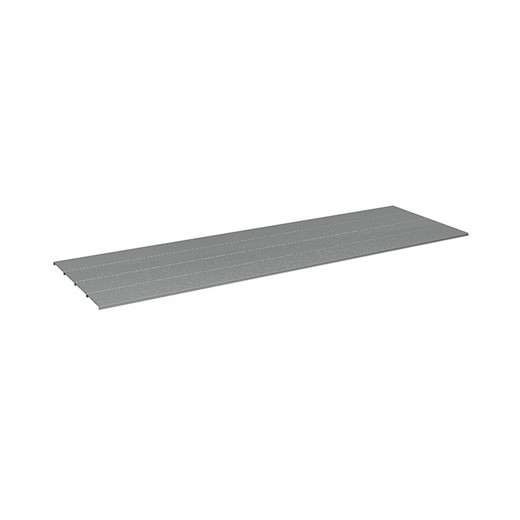 "Looking: 42""W x 30""D Rivet Shelving Steel deck 