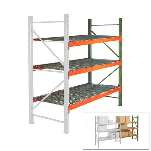 "Looking: 96""H x 96""W x 48""D Pallet Rack Shelving With Wire Decking Add-On 