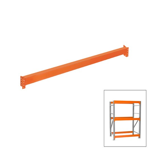 "Looking: 96""D Pallet Rack Beam Level Heavy Duty Orange 