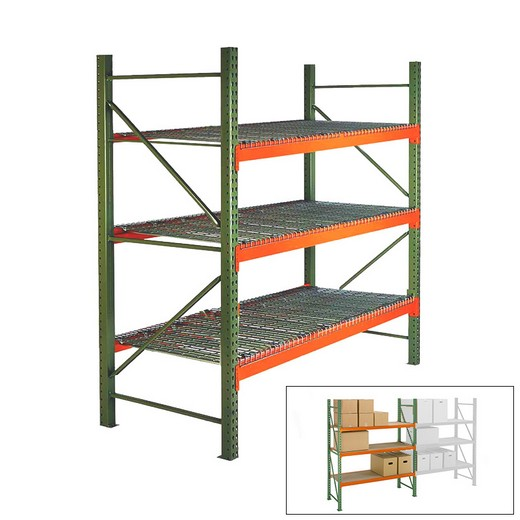 "Looking: 120""H x 108""W x 42""D Pallet Rack Shelving With Wire Decking Starter 