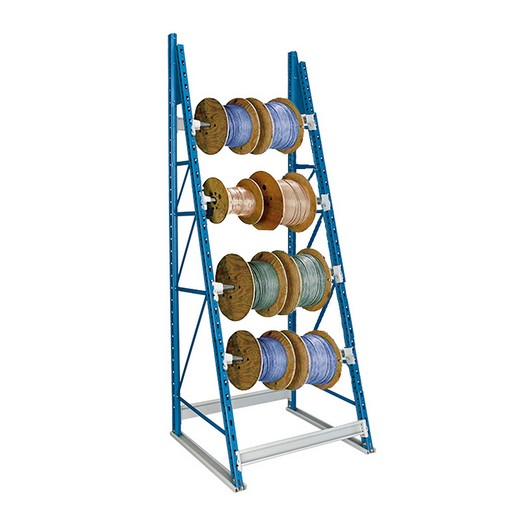 "Looking: 123""H x 48""W x 36""D Reel Shelving Starter 4 Axes 