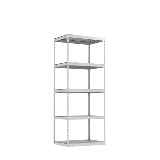 "Looking for: Rivet Record Storage Shelving Unit. 5 Steel Deck Levels. 108""H x 42""W x 30""D 
