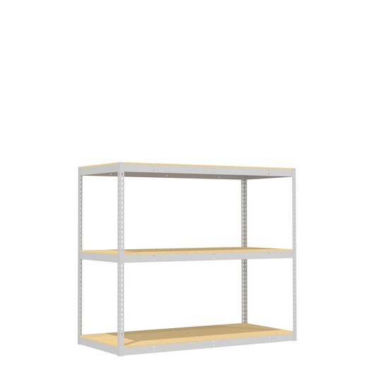 "Looking for: Rivet Record Storage Shelving Unit. 3 Particle Board Levels. 60""H x 69""W x 30""D  