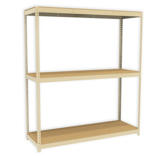 "Looking for: Rivet Premium Shelving Unit. 3 Particle Board Levels. 60""H x 36""W x 18""D  