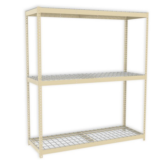 "Looking: 48""H x 72""W x 30""D Premium Rivet Shelving Unit with Wire Deck 