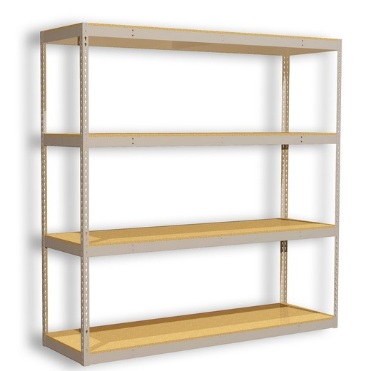 "Looking for: Rivet Premium Shelving Unit. 4 Particle Board Levels. 72""H x 72""W x 30""D  