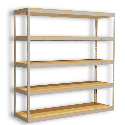 "Looking for: Rivet Premium Shelving Unit. 5 Particle Board Levels. 120""H x 84""W x 30""D 