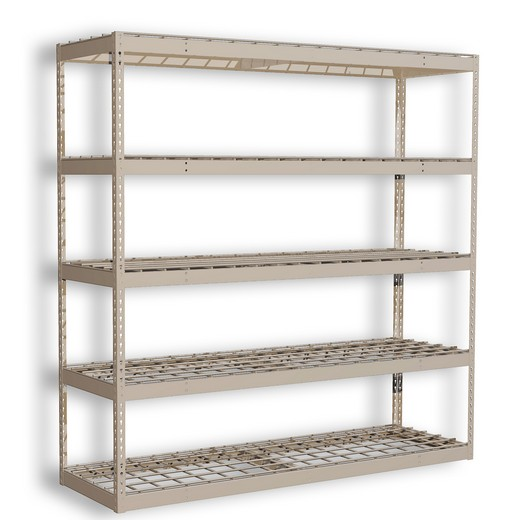 "Looking: 120""H x 48""W x 48""D Premium Rivet Shelving Unit with Wire Deck 