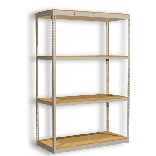"Looking: 60""H x 48""W x 24""D Standard Rivet Shelving - Particle Board 