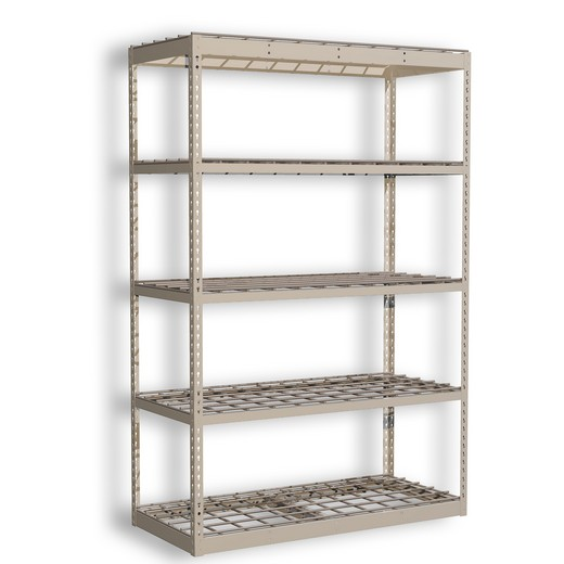 "Looking: 72""H x 36""W x 24""D Standard Rivet Shelving - Wire Deck 