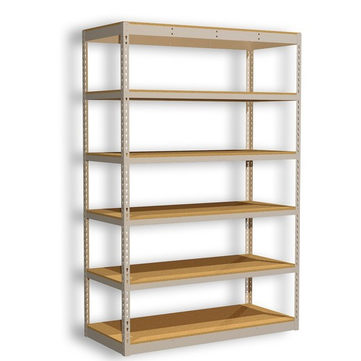 "Looking for: Rivet Standard Shelving Unit. 6 Particle board Levels. 108""H x 48""W x 12""D 