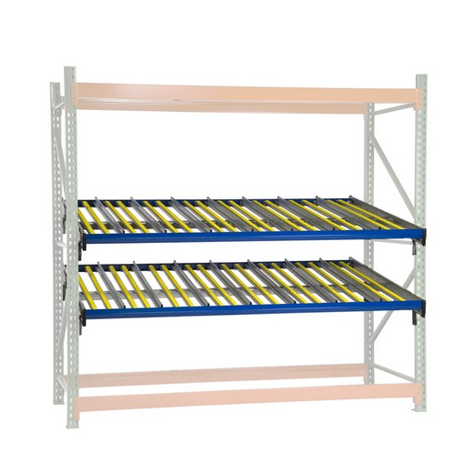 "Looking for: KDR Gravity Flow Extra Level - 5 Guides, 12 rollers 96""W x 96""D  