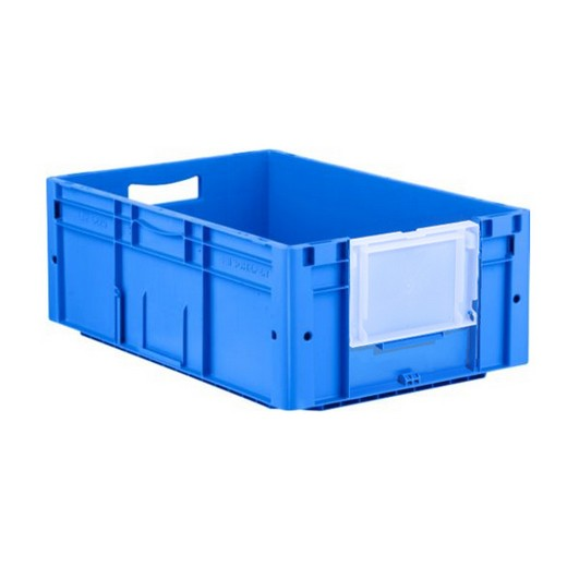 "Looking: 24""L x 16""W x 09""H LTF Straight-Wall Container with Drop-down Window Blue 
