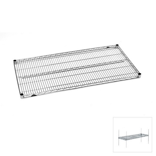 "Looking: 72""W x 24""D Chrome Wire Shelving Extra Level 