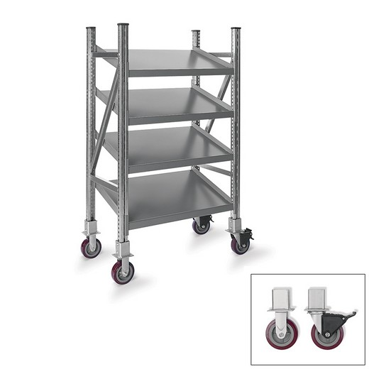 "Looking for: R7000 On-Line Gravity Mobile Tilted Galvanized. 4 Levels 68""H x 48""W x 24""D  
