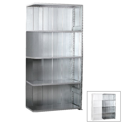 "Looking: 85""H x 39""W x 20""D R3000 Standard Add-on Closed Solid Shelving 5 Levels - Galvanized 