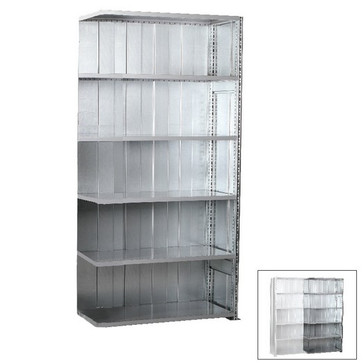 "Looking: 98""H x 39""W x 20""D R3000 Standard Add-on Closed Solid Shelving 6 Levels - Galvanized 