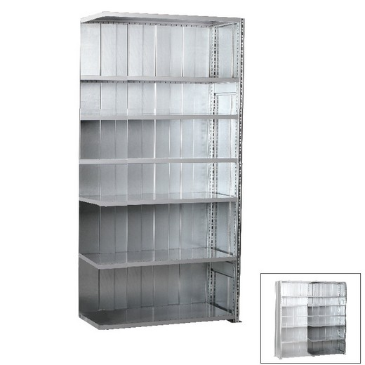 "Looking: 118""H x 51""W x 24""D R3000 Heavy Duty Add-on Closed Solid Shelving 7 Levels - Galvanized 