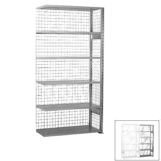 "Looking: 98""H x 48""W x 24""D R3000 Heavy Duty Add-on Closed Wire Shelving 6 Levels - Galvanized 
