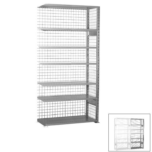 "Looking: 118""H x 48""W x 18""D R3000 Heavy Duty Add-on Closed Wire Shelving 7 Levels - Galvanized 
