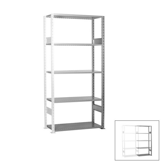 "Looking: 85""H x  39""W x 12""D R3000 Standard Add-on Open Shelving 5 Levels - Galvanized 