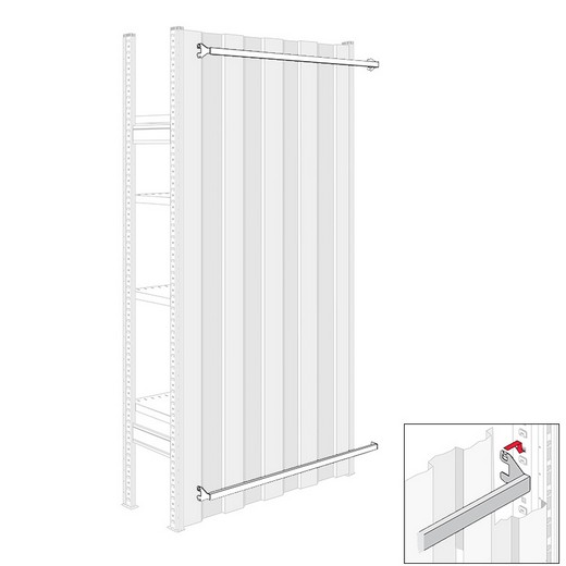 "Looking: 39""W R3000 Industrial Shelving Beam for Outer Back Panels 