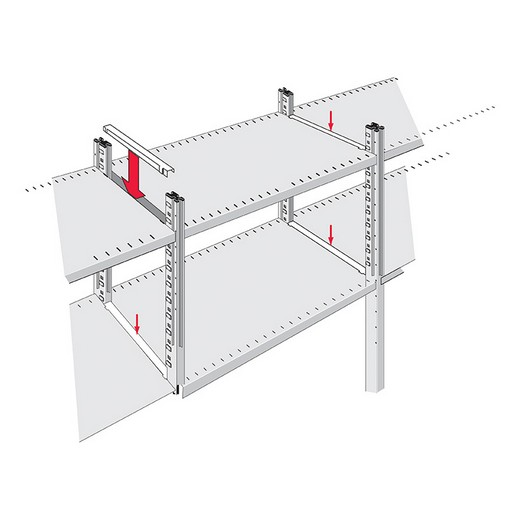 "Looking: 2.0""W Infill Shelf Pieces for R3000 Industrial Shelving 