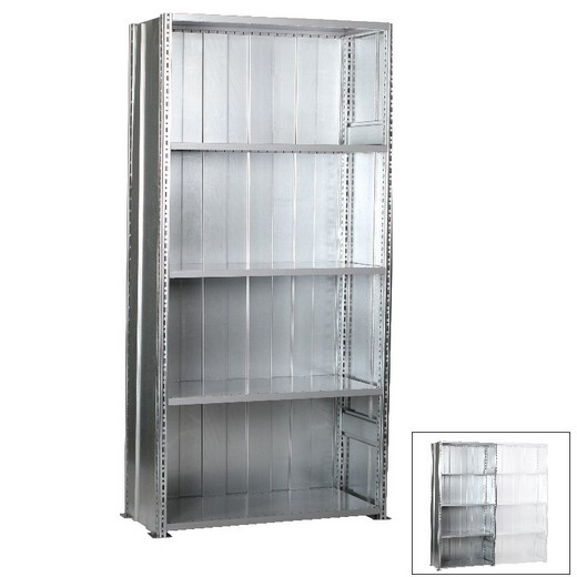 "Looking: 85""H x 48""W x 24""D R3000 Heavy Duty Starter Closed Solid Shelving 5 Levels - Galvanized 