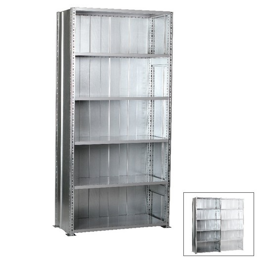 "Looking: 98""H x 48""W x 24""D R3000 Heavy Duty Starter Closed Solid Shelving 6 Levels - Galvanized 