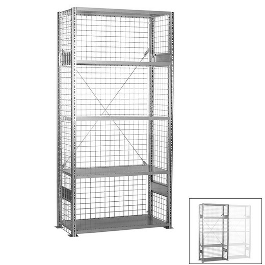 "Looking: 85""H x 48""W x 18""D R3000 Heavy Duty Starter Closed Wire Shelving 5 Levels - Galvanized 