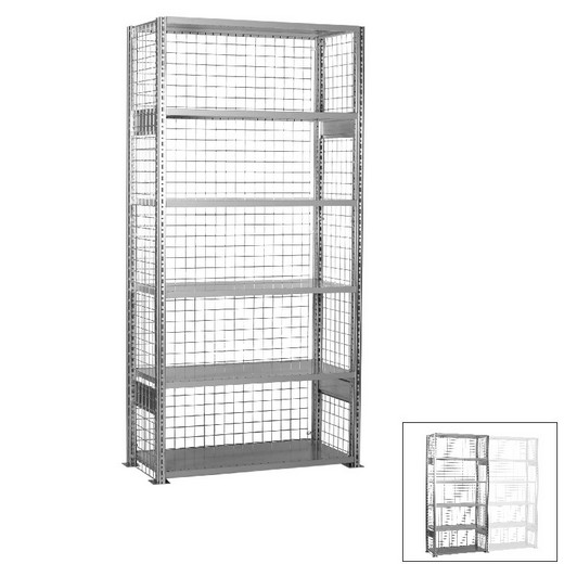 "Looking: 98""H x 39""W x 16""D R3000 Standard Starter Closed Wire Shelving 6 Levels - Galvanized 