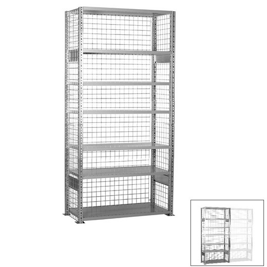 "Looking: 118""H x 48""W x 12""D R3000 Heavy Duty Starter Closed Wire Shelving 7 Levels - Galvanized 