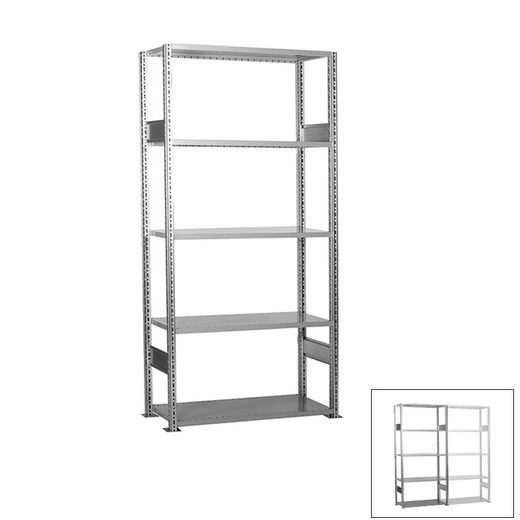 "Looking: 85""H x  51""W x 24""D R3000 Heavy Duty Starter Open Shelving 5 Levels - Galvanized 