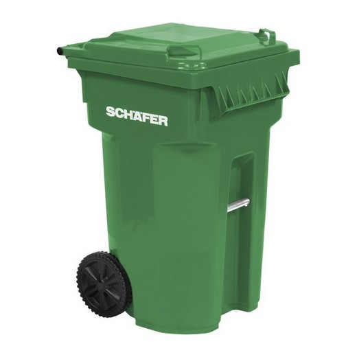 "Looking: 27""L x 26""W x 42""H USD Rollout Waste and Recycling Cart 65 Gallons Serie B 