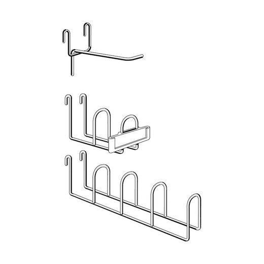 "Looking: 03""H x 1.75""W x 03""D Wire Mesh Wall Panel One-Section Hook for R3000 Industrial Shelving 